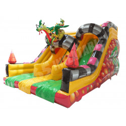 Dragon Double Toboggan Gonflable