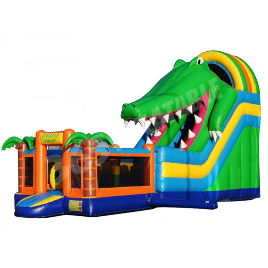 Toboggan Gonflable Crocodile Multiplay
