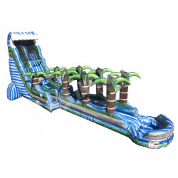 Toboggan Bleue Gonflable De Glissement De Tsunami De Crush N